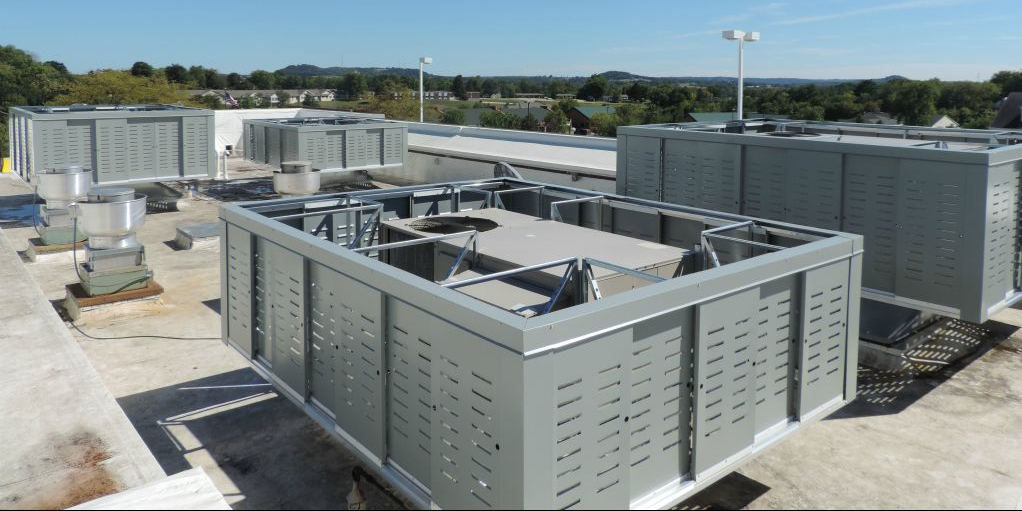 Rooftop Mechanical Screens : Resources for rooftop screening systems north american